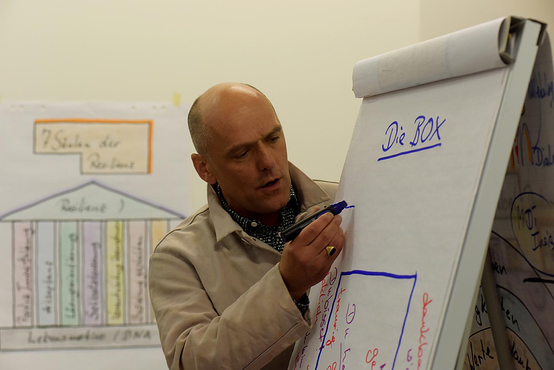 Michael Bontke beim Vortrag